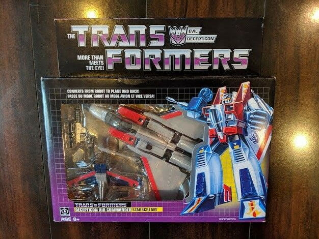 NEW Transformers G1 Starscream Walmart Exclusive Vintage Retro Hasbro 2018