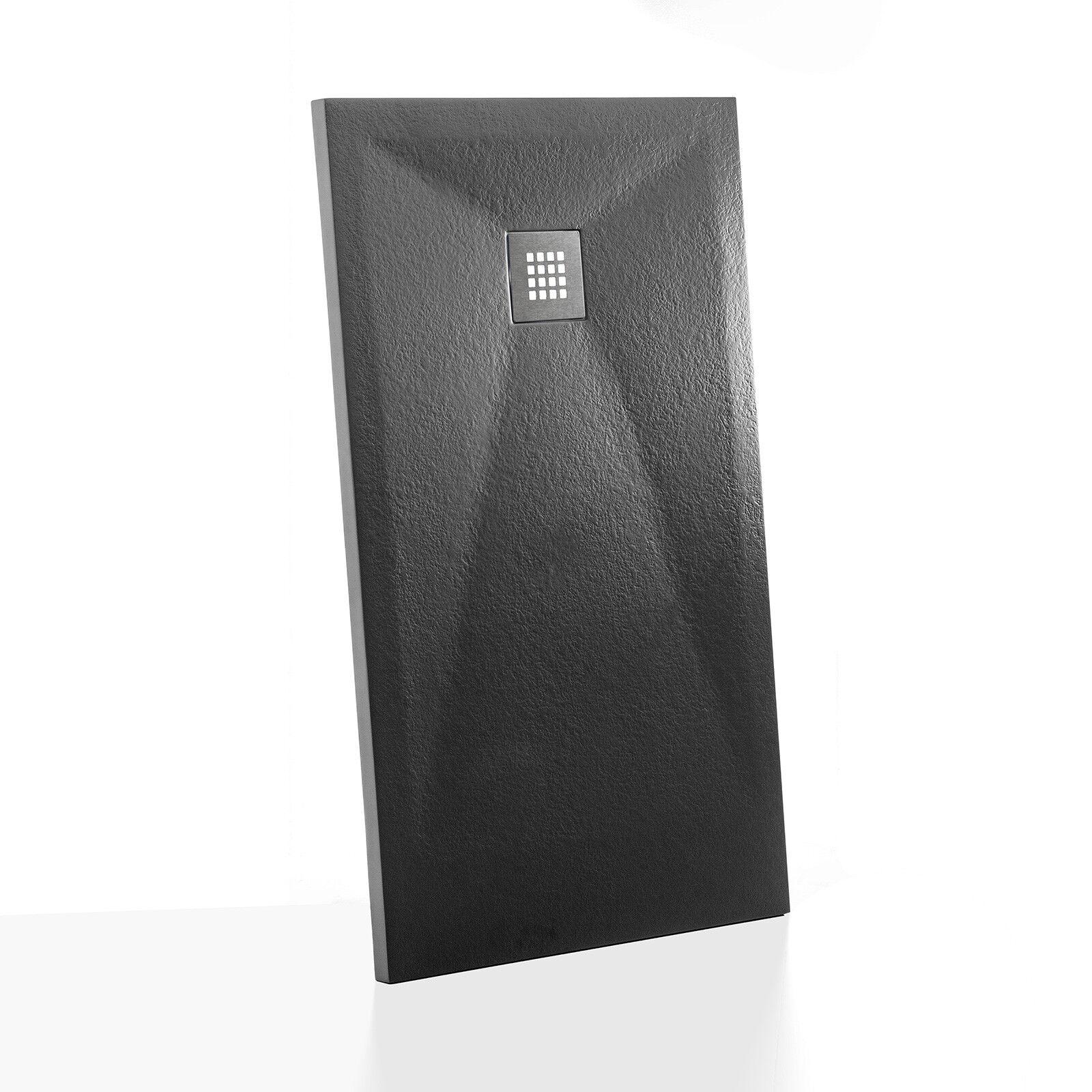 Piatto doccia 70x150 antracite profilo ribassato Flix effetto pietra riducibile