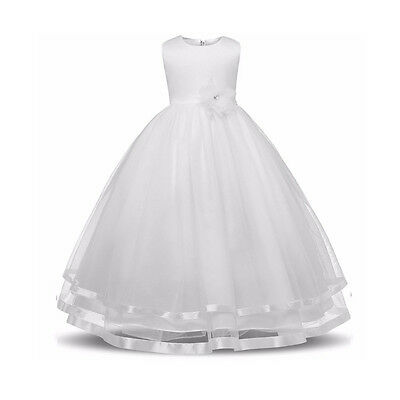 Flower Girl Dress Princess Pageant Wedding Birthday Party Bridesmaid Kid Dresses