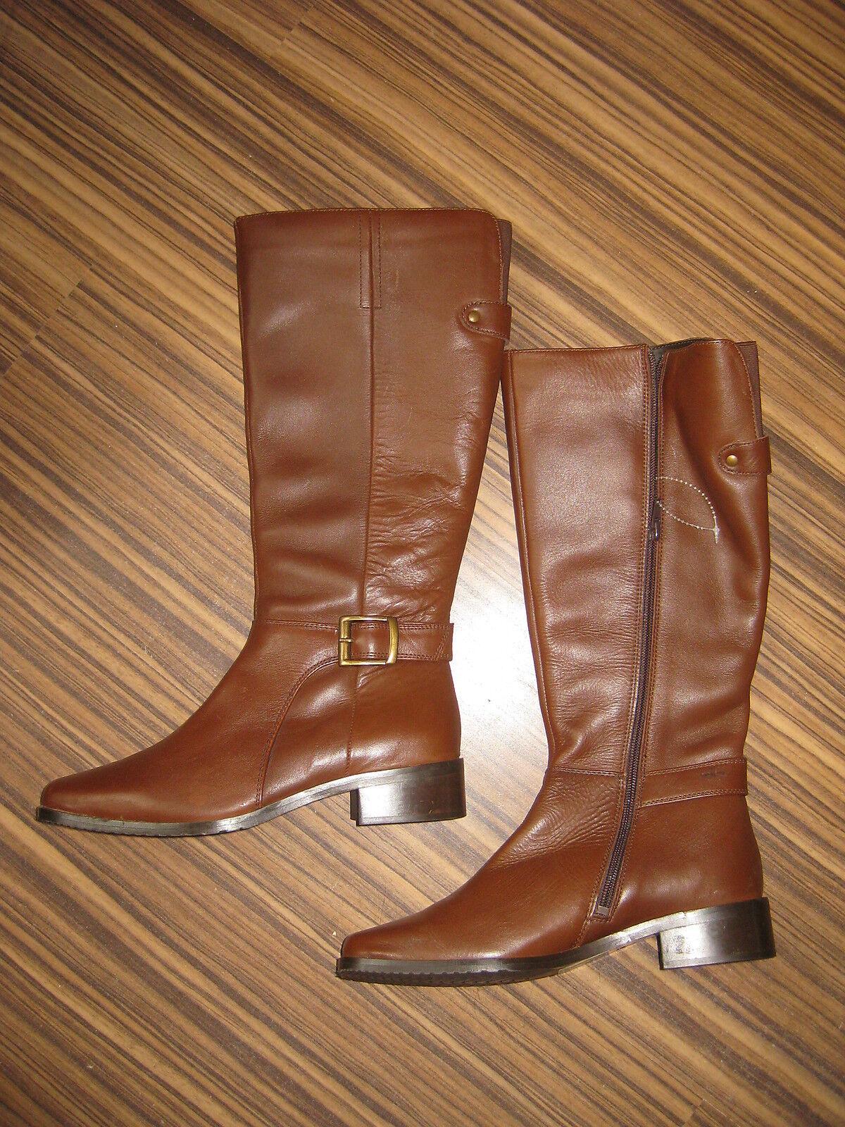 Sally botas marrón de cuero nuevo