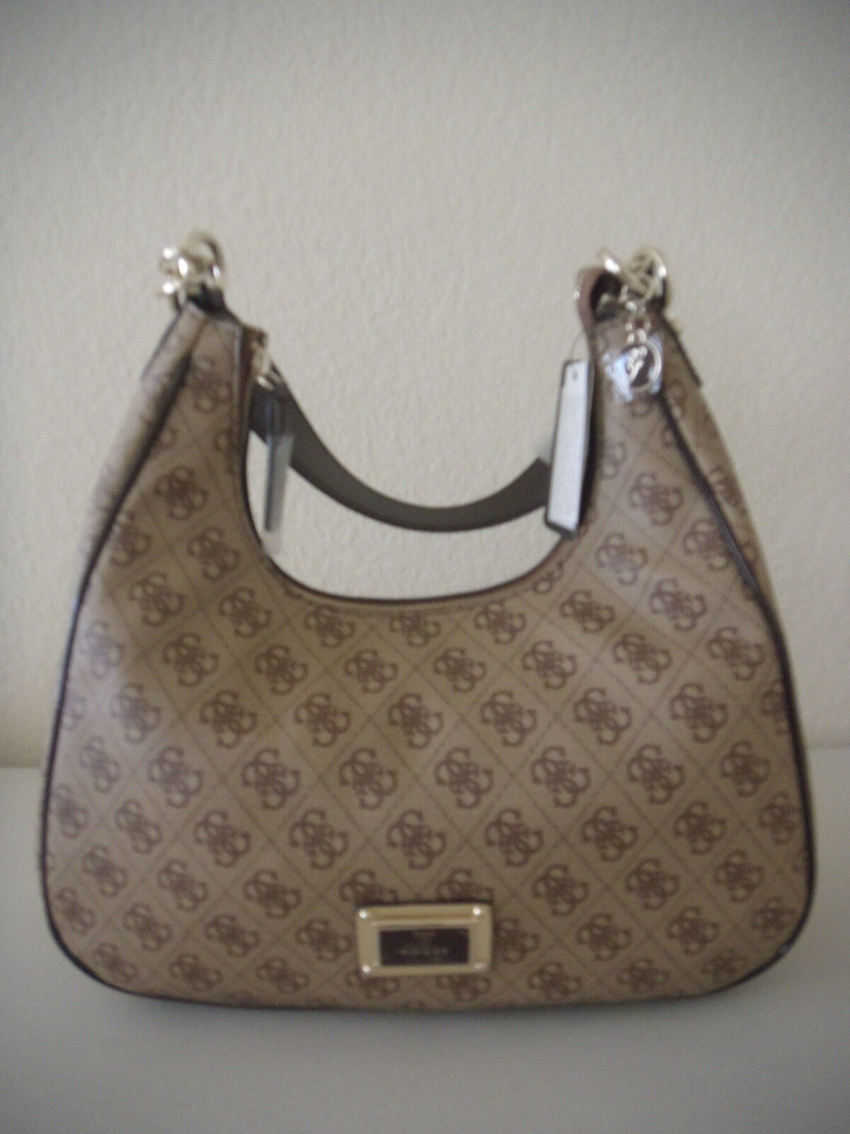 Authentic NWT GUESS Reama Handbag with Style # SG425802 COFFEE