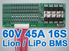 60V 67.2V 16S 45A Lithium ion Li-ion Li-Po LiPo Polymer Battery BMS PCB System