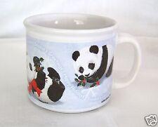 PANDA BEARS Large Stoneware Christmas Mug Happy Holidays ~Seasons Greetings