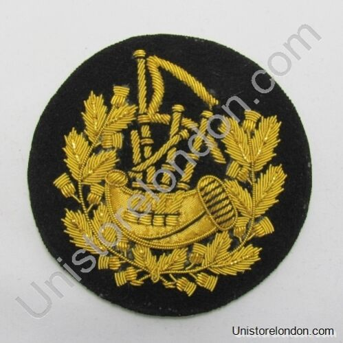 Badge Pipe Major Gold on Black R1210