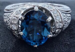 Kirk-Kara-18k-White-Gold-2ct-Topaz-and-1ctw-Diamond-Ring