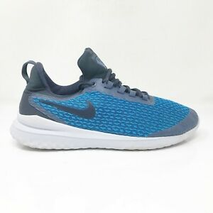 Nike-Mens-Renew-Rival-AA7400-400-Blue-Running-Shoes-Lace-Up-Low-Top-Size-9