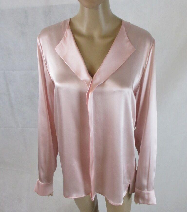 Seiden Shirt in den Sommerfarben Rosa, Größe 38