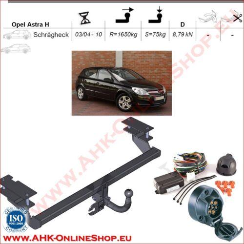 AHK ES7 Opel Astra H Bj.2004-2011 Schrägheck Anhängevorrichtung Anhängerkupplung