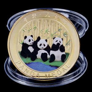 EXELENTE-MONEDA-ORO-GOLD-PLATED-CHINA-ANO-DEL-OSO-PANDA