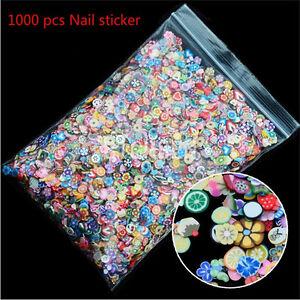 1000PCS-3D-Fruit-Fimo-Slice-Clay-DIY-Nail-Art-Tip-Sticker-Decoration-DM