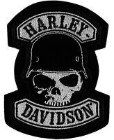 Harley-davidson® Spike Skull Wearing Helmet Emblem Patch (3x4.25) Em786062