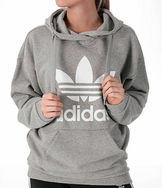 adidas Trefoil Hoodie Women's Medium Grey Heather S