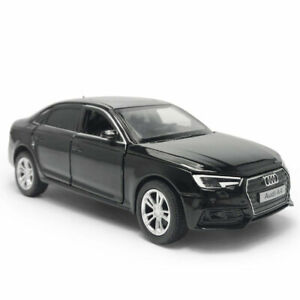 Audi-A4-1-32-Model-Car-Metal-Diecast-Toy-Vehicle-Kids-Collection-Gift-Black