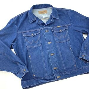 Mens Wrangler Cowboy Cut Unlined Denim Jacket 74145PW Inside Pockets