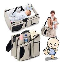 2in1 Crib Bassinet Portable Nursery Bed Diaper Bag Baby Infant Foldable Travel