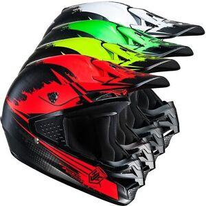 HJC-Casque-Cross-Enduro-CS-MX-CS-MX-de-moto-jaune-rouge-vert-noir-Blanc-S-XL