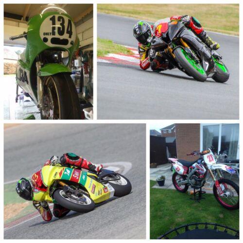 Motocross Race Numbers Vinyl Stickers  Decals Track Bike Kart 3 sets 150mm D1