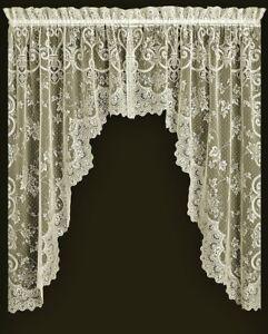 Image Is Loading Ivory Heritage Lace English Ivy Window Valance Or