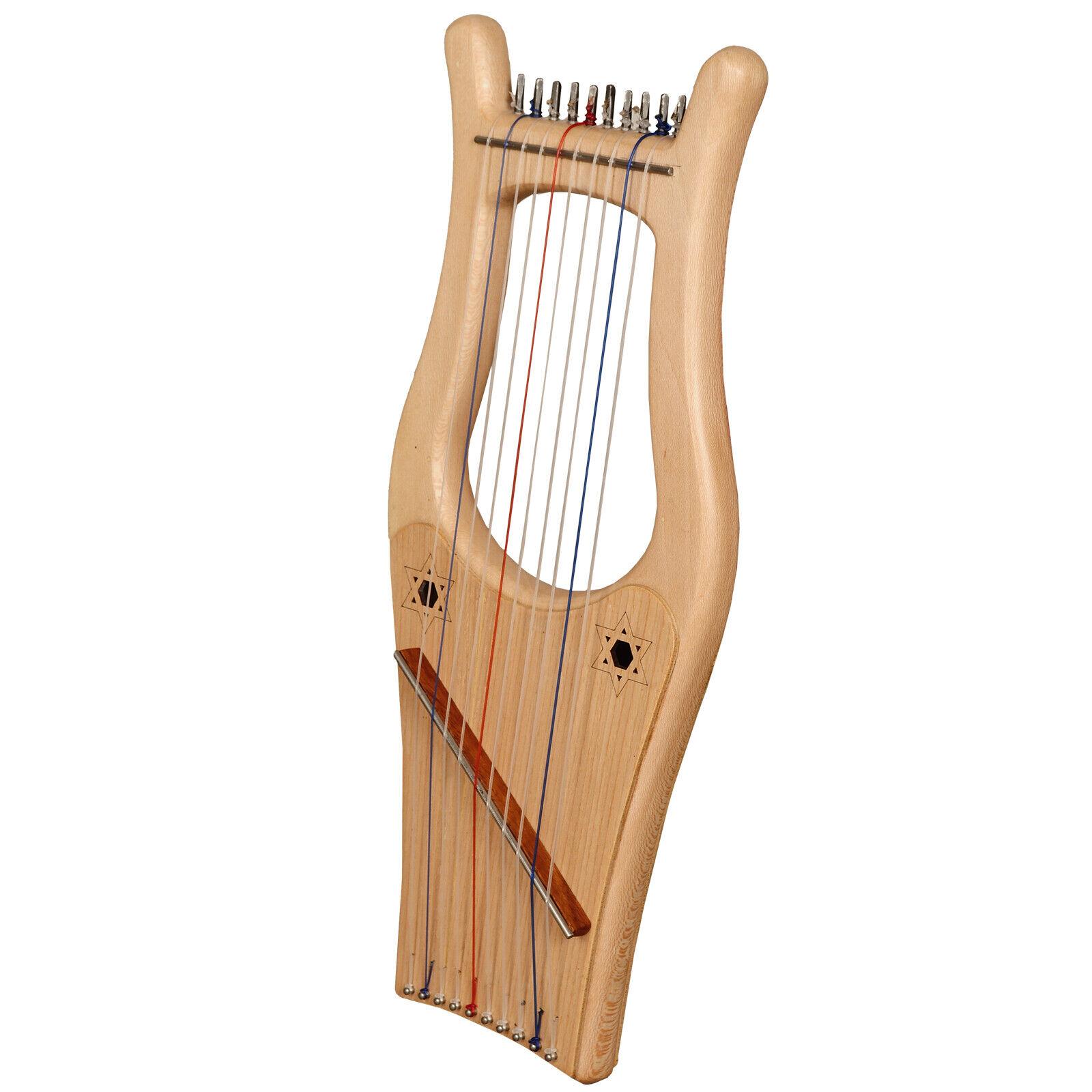 Muzikkon Mini Kinnor Harp, 10 Strings Lacewood, Kinnor Harp, King David Harp