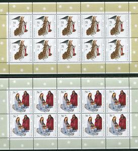 Bund-10-x-2285-2286-postfrisch-KB-Bogen-Weihnachten-2002-Kleinbogen-10-er