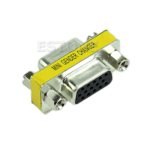 VGA//SVGA 15pin Gender Changer Adapter Female to Female Cable Extender Connector