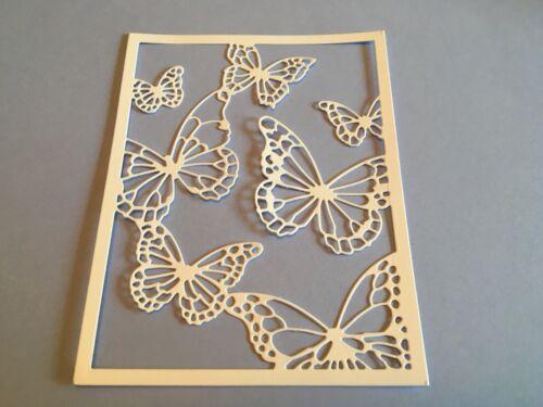 8 X Mariposa Collage dado corta ** GRATIS UK FRANQUEO **
