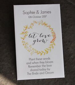 Image Is Loading Let Love Grow Personalised Seed Packets Envelopes Wedding