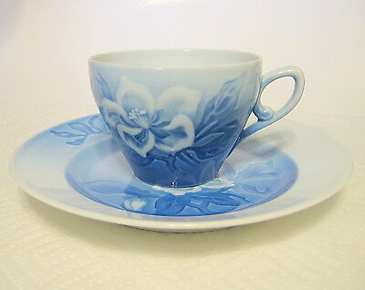Bing and Grondahl Teacup & Saucer Floral Denmark