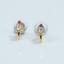 Indexbild 5 - 14 K Hallmark Gold Diamant-Ohrstecker im Rubin-Rosenschliff Weihnachtsgeschenk