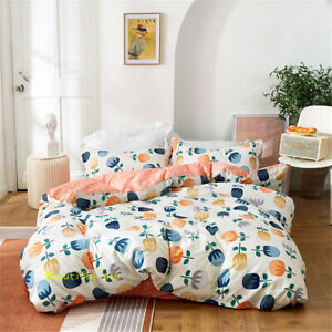 White Flower Single/Double/Queen/King Bed Quilt/Doona/Duvet Cover Set Cotton