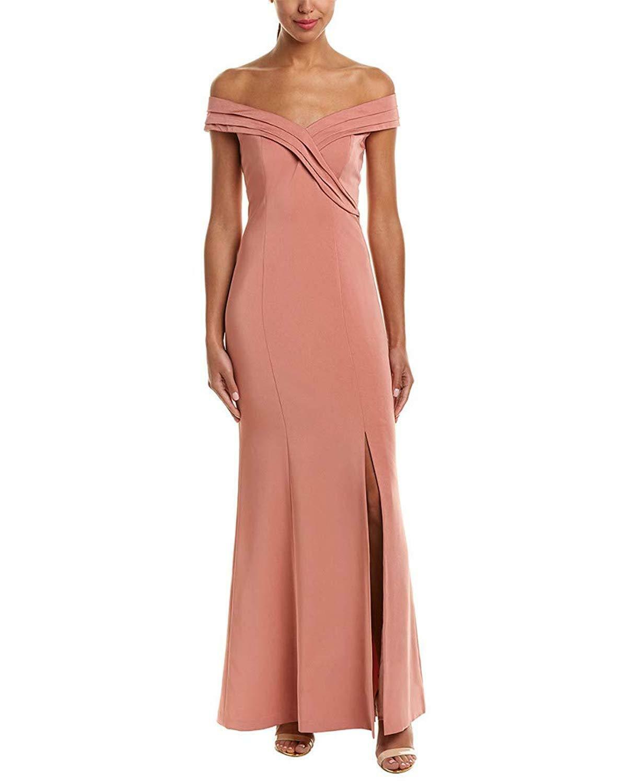Kay Unger Off-The-Shoulder Gown MSRP  288 Size 4 B 213 Blm