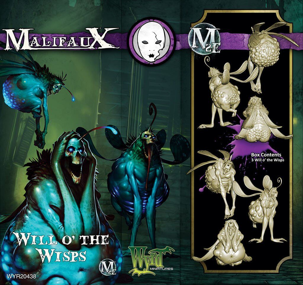 Malifaux Neverborn Will O´ the the the Wisps box plastic Wyrd miniatures 32 mm  ¡envío gratis!