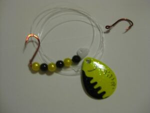 Walleye Red Slow Death Hook Spinner Blade Blades Rigs Chartreuse Perch Crystal