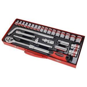 26-piezas-Unidad-de-1-3cmcm-Enchufe-Juego-de-EXTENSIBLE-Trinquete-Accesorios-amp