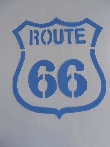 Schablone Stencil Route 66 für Textil Airbrush Wanddeko u.v.m auf A4