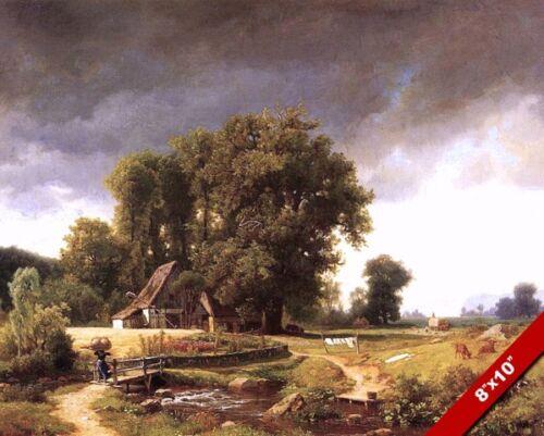 WESTPHALIA GERMANY GERMAN FARM LANDSCAPE CANVAS GICLEE ART PRINT OF PAINTING NEW