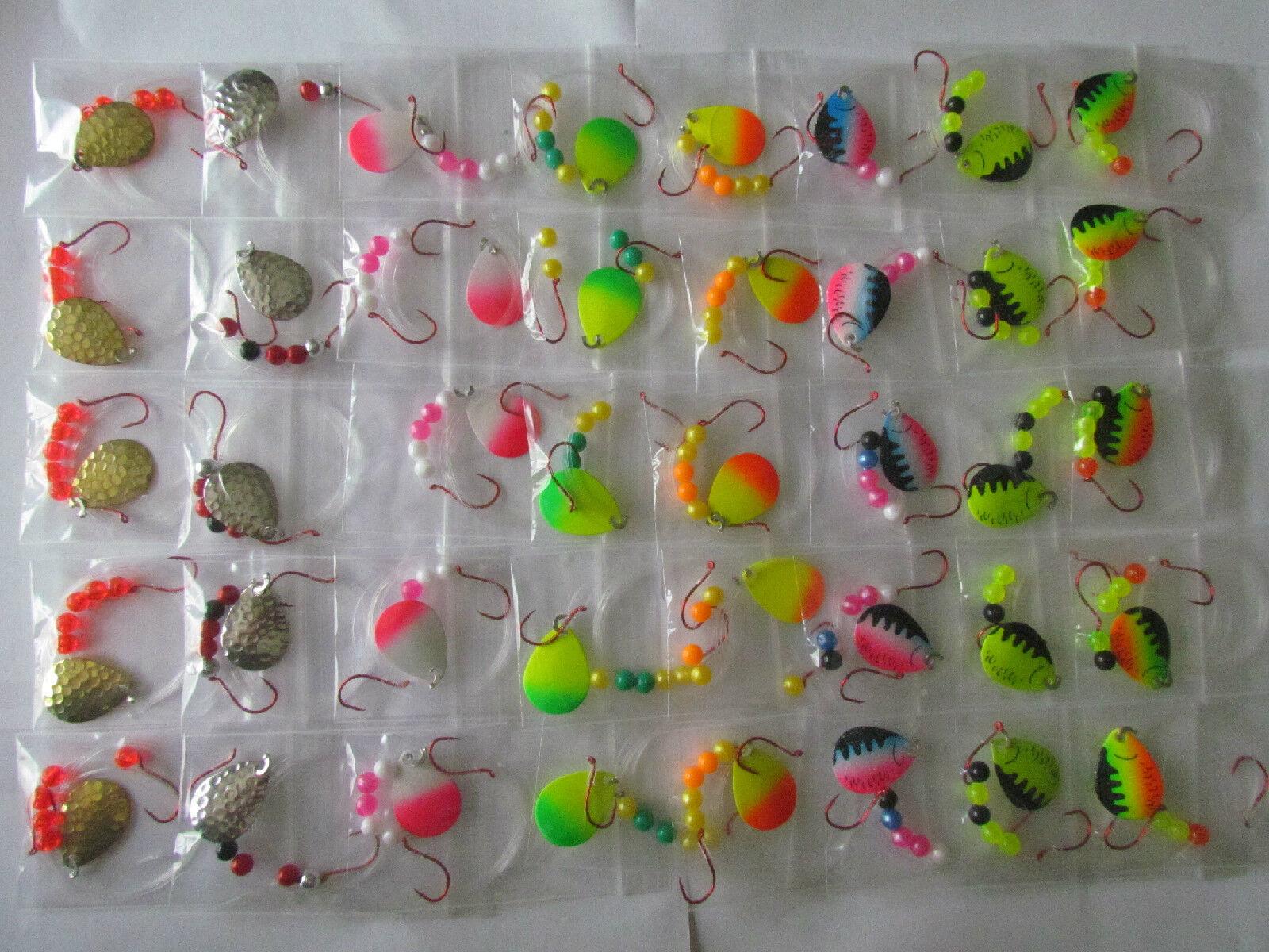 40 Spinner Rigs Leech Minnow Crawler Harness Wtuttieye, Bass, Pike Coloreeado Blades