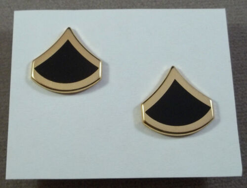 E-3 Gold Black US Army Vintage Collar Rank Insignia Private First Class
