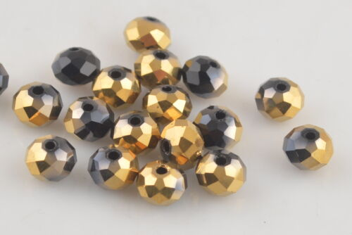 100ps faceted glass crystal Blotter Spacer Beads Charms Findings 6 mm Loose Bead