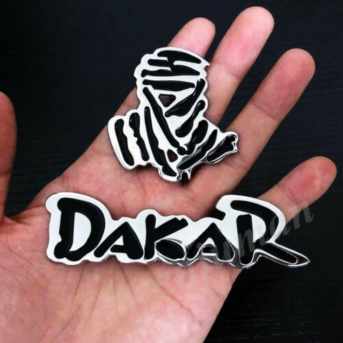 Metal Chrome Dakar Rally Logo Car Trunk Emblem Badge Decal Stickers SUV 4X4
