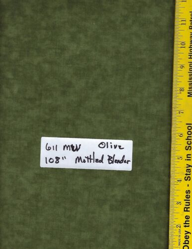 """611 MW 108/"""" EXTRA WIDE QUILT BACKING 100/% COTTON MOTTLED BLENDERS BTY"""