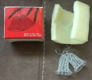 Sears Spun Glass Bell W/Silver Cord Christmas Tree ...