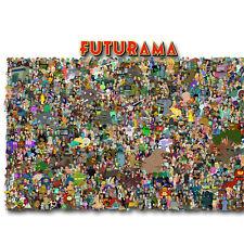 Futurama Funny Cartoon Canvas Poster Art Prints Wallpaper 8x12 24x36 inch 04