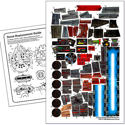 POWER OF THE FORCE 2-STAR WARS MILLENNIUM FALCON 1995-REPLACEMENT STICKER