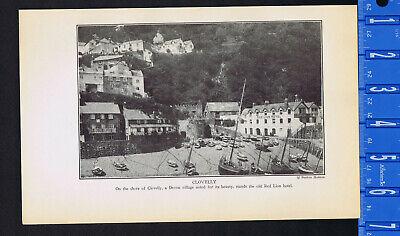 English Seaside Devon Village Cottage Clovelly  by E W Wait   8x10 Print 323