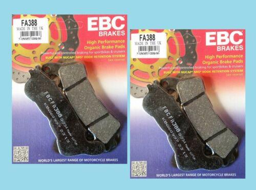2x EBC FA388 Front Brake pads for Honda CBF CBF600  ABS models   2008 to 2012