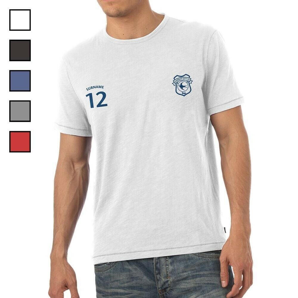 Cardiff City F.C - Personalised Mens T-Shirt (SPORTS)