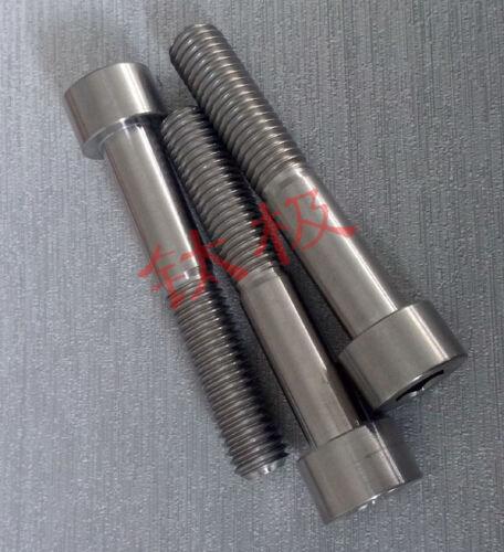 4pcs M10 x 10//25//40//45//50//60mm Titanium Cylinder head Hexagonal screw Allen Bolt