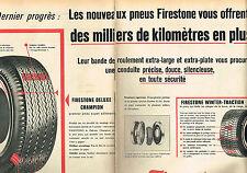 PUBLICITE ADVERTISING 124  1961  FIRESTONE  pneus WINTER  & DELUXE ( 2p)