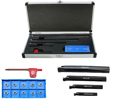 3//8 1//2 /& 5//8 with 14 CCMT Inserts 4 PC SCLR Indexable Boring Bar Set 5//16